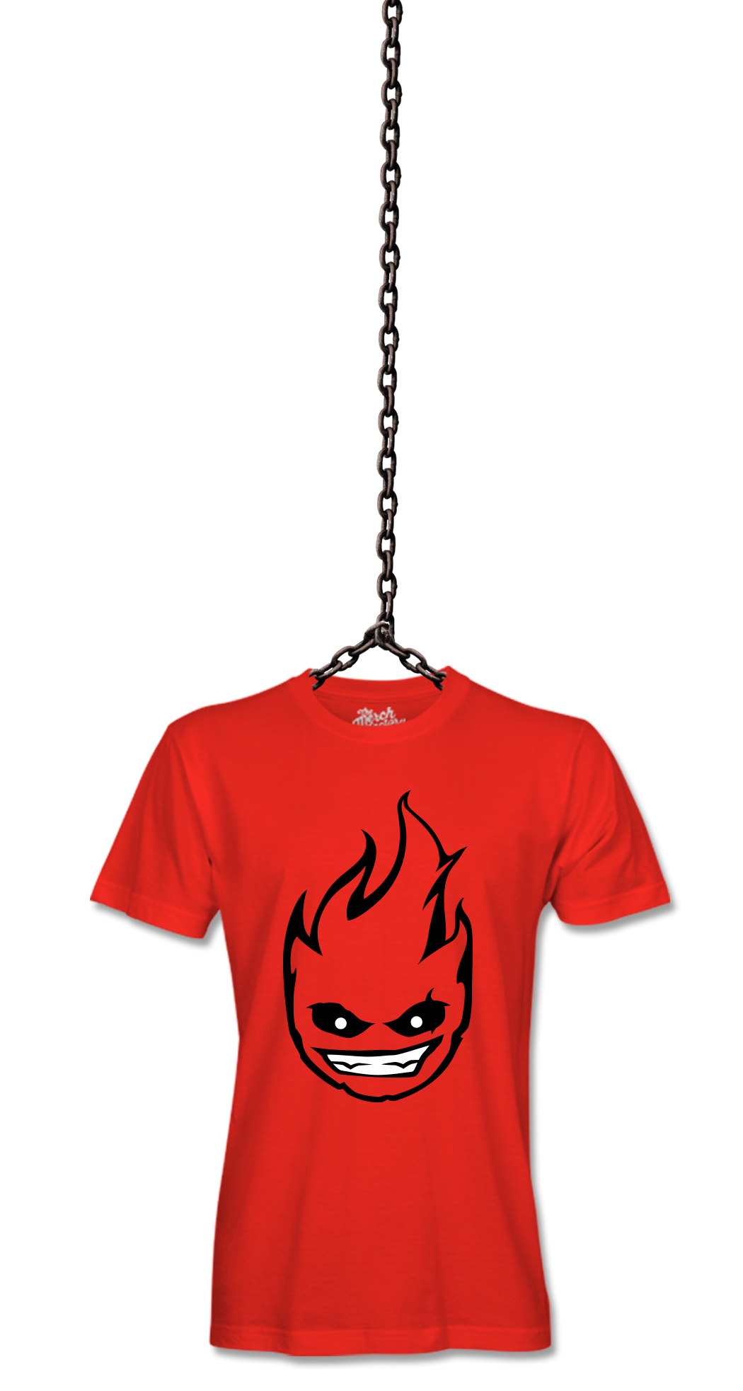Dex Arson - Red tee hanging on chain